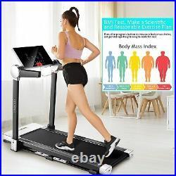 3.0HP Folding Treadmills for Home, Under Desk Electric Treadmill Workout Running