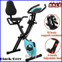 ANCHEER 2 in 1 Folding Exercise Bike, Indoor Fitness Stationary Bike Workout