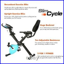 ANCHEER 2in1 Folding Exercise Bike Slim Cycling Indoor Stationary Bike Fitness