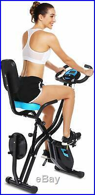 ANCHEER 3 in 1 Folding Exercise Bike Indoor Fitness Stationary Bike Workout Home