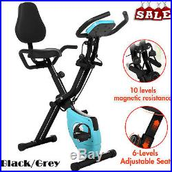 ANCHEER Folding 2 in 1 Exercise Bike Machine Home Cycling Fitness Trainer Slim