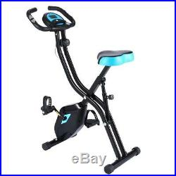 ANCHEER Folding Exercise Bike, Home Slim Cycle Stationary Bike 10Level Resistance