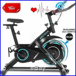 ANCHEER Indoor Cycling Bike Stationary Belt Drive Exercise Bike Heart Rate Sens@