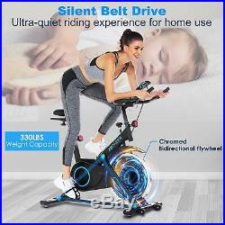 ANCHEER Indoor Cycling Bike Stationary Belt Drive Exercise Bike Heart Rate Sens#