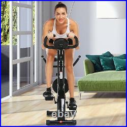 ANCHEER Indoor Exercise Slim Folding Bike 3in1 Stationary Cycle Magnetic Upright