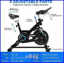 ANCHEER Stationary Bike, 49 lbs Flywheel Indoor Cycling Exercise Bike+Heart Rate