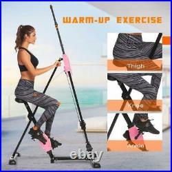 ANCHEER Vertical Climber Exercise Folding Climbing Stepper Total Body Workout
