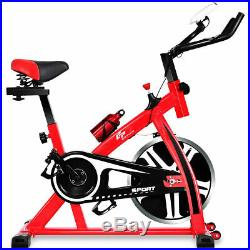 Adjustable Exercise Bike Bicycle Cycling Cardio Fitness LCD with 18lb Flywheel