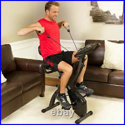 As Seen On TV Slim Cycle Stationary Bike Folding Indoor Exercise Bike with