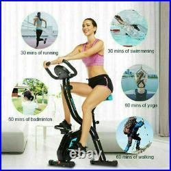 Best -Folding Stationary Upright Indoor Cycling Exercise Bike with LCD Monitor