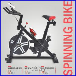 Black Exercise Bike Fitness Gym Indoor Cycling Stationary Bicycle Cardio Workout