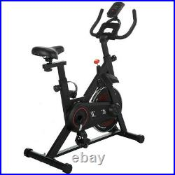 Black Exercise Bike Stationary Bicycle Indoor Cycling Cardio Fitness Workout Gym