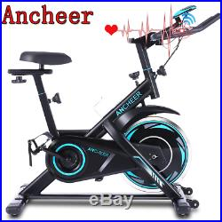 Cycling Exercise Bike Stationary Belt Drive Resistance LCD Monitor Seat Adjustab