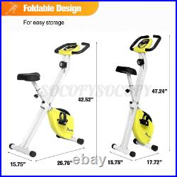 DOUFIT Foldable Stationary Upright Magnetic Exercise Bike Workout Indoor Cycling