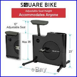 Daiwa Felicity Exercise Under Desk Bike for Home Office Square Bike Aqua Blue