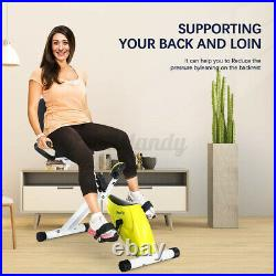 Doufit Foldable Recumbent Exercise Bike Seated Cycle Adjustable Resistance Home
