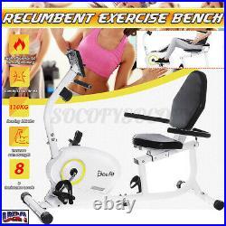 Doufit Recumbent Magnetic Exercise Bike Seated Stationary Exercise Gym Machine