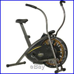 Exercise Bike Air Resistance Stationary Fitness Bicycle Cardio Indoor Cycling