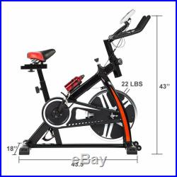 Exercise Bike Indoor Cycling Bike WithLCD Display Stationary Bike Cardio Workout