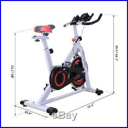 Exercise Bike Racing Bicycle Adjustable Trainer Fitness Cycle withResistance Steel