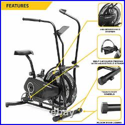 Exercise Cycling Fan Bike Indoor Exercise Cycle with Air Resistance System