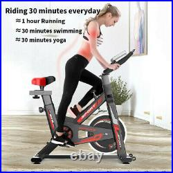 Exercise Stationary Bike Cycling Fitness Home Gym Cardio Workout Indoor Adjust