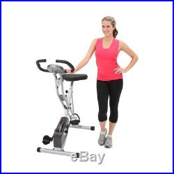 Exerpeutic 250XL Folding Magnetic Upright Bike with Pulse Monitoring, Gray