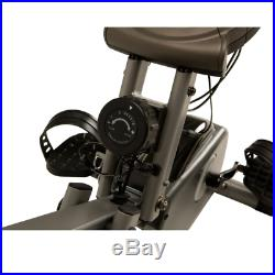 Exerpeutic 400XL Folding Recumbent Exercise Bike With Pulse Fitness Cycle Cardio