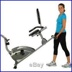 Exerpeutic High-Capacity Magnetic Recumbent Exercise Bike w Pulse Cardio Fitness