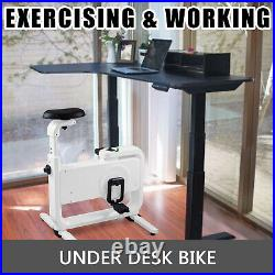 Fodable Exercise Bike Desk With Smart Band 220LBS Portable Durable ABS Fitness