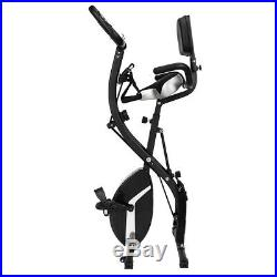 Fold 3 in 1 Stationary Upright Exercise Bike Fitness Home Magnetic Resistance