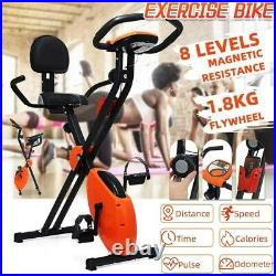 Foldable Exercise Bike Cardio Indoor Cycling Home Fitness Stationary Equipment