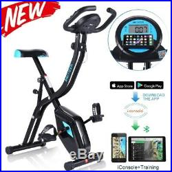 Foldable Stationary Upright Exercise Workout Cycling 10 levels control system