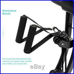 Foldable Stationary X-Shape Exercise Bike 8-Level Magnetic Resistance Training