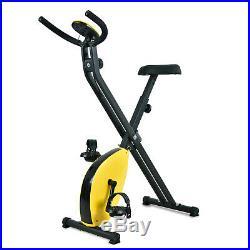Foldable X-Shape Stationary Exercise Bike Upright Folding Indoor Cardio Cycling