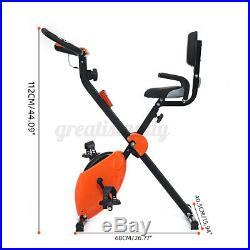 Folding Magnetic Bands Exercise Bike Stationary Upright Indoor Cycling Workout U