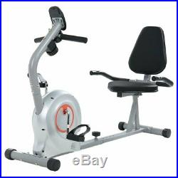 Folding Recumbent Exercise Bike With Pulse LCD Display Home Gym Fitness BE