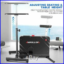 HIROLLOP Indoor Cycling Bike, Standing Desk Exercise Bike Workout Cardio Home