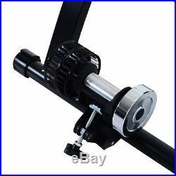 HOMCOM Foldable Indoor Bicycle Bike Turbo Trainer Fan Fly Wind Wheel Quiet Black