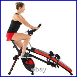 Indoor Adjustable Magnetic Resistance Cycling Stationary Recumbent Exercise Bike