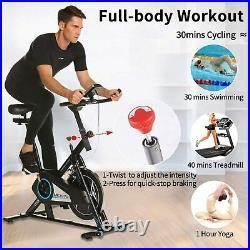 Indoor Cycling Bike, Smooth Quiet Belt Drive Indoor Stationary Exercise Bike