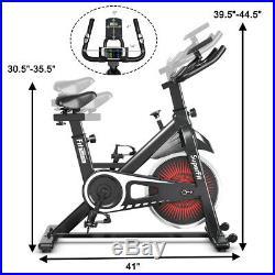 Indoor Cycling Stationary Bike Silent Belt Drive Adjustable Resistance Home Gym