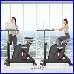 Indoor Fitness Stationary Cardio Cycling Bike Folding Exercise Bike with Desk