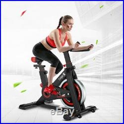 Indoor Stationary Exercise Bike Fitness Cycling Bicycle Automatic Sensor WithWheel