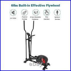 Magnetic Elliptical Machine Trainer Smooth Quiet Driven Home Gym Exercise Fit