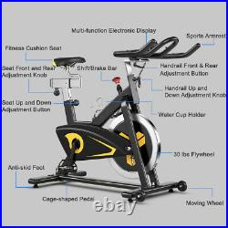Magnetic Exercise Bike Stationary Belt Drive Indoor Cycling Bike Gym Home Cardio
