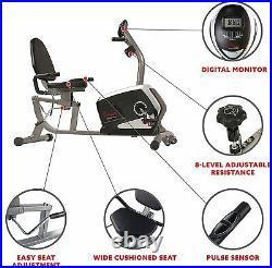Magnetic Recumbent Stationary Exercise Bike for Cardio Home Gym FREE SHIPPING