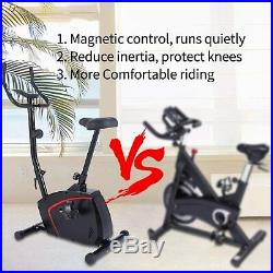 Magnetic Upright Exercise Bike with10-level Resistance Quiet Cycling Bike Cardio