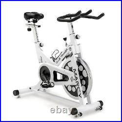 Marcy XJ-5801 Club Revolution Indoor Home Gym Exercise Bike Trainer, White/Black