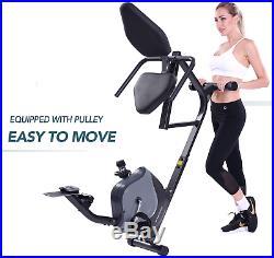 Maxkare Recumbent Exercise Bike Indoor Cycling Stationary Bike Adjustable Seat